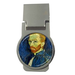 Vincent Van Gogh Self Portrait With Palette Money Clip (round) by MasterpiecesOfArt