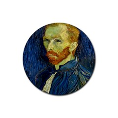 Vincent Van Gogh Self Portrait With Palette Drink Coasters 4 Pack (round) by MasterpiecesOfArt