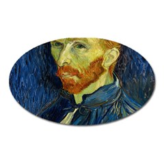 Vincent Van Gogh Self Portrait With Palette Magnet (oval) by MasterpiecesOfArt