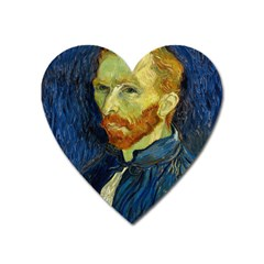 Vincent Van Gogh Self Portrait With Palette Magnet (heart) by MasterpiecesOfArt