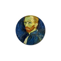 Vincent Van Gogh Self Portrait With Palette Golf Ball Marker 4 Pack by MasterpiecesOfArt