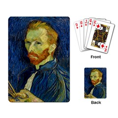 Vincent Van Gogh Self Portrait With Palette Playing Cards Single Design by MasterpiecesOfArt