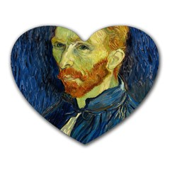 Vincent Van Gogh Self Portrait With Palette Mouse Pad (heart) by MasterpiecesOfArt