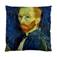 Vincent Van Gogh Self Portrait With Palette Cushion Case (single Sided)  by MasterpiecesOfArt