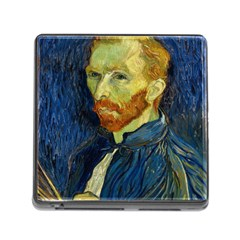 Vincent Van Gogh Self Portrait With Palette Memory Card Reader With Storage (square) by MasterpiecesOfArt