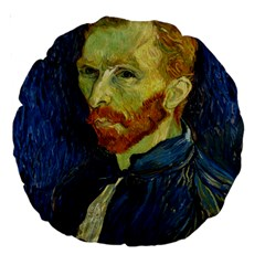 Vincent Van Gogh Self Portrait With Palette 18  Premium Round Cushion  by MasterpiecesOfArt