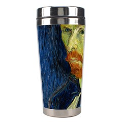 Vincent Van Gogh Self Portrait With Palette Stainless Steel Travel Tumbler by MasterpiecesOfArt