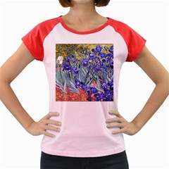 Vincent Van Gogh Irises Women s Cap Sleeve T-Shirt (Colored) by MasterpiecesOfArt