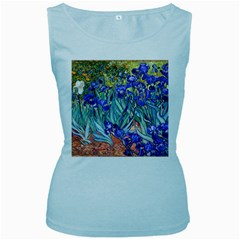 Vincent Van Gogh Irises Women s Tank Top (Baby Blue) by MasterpiecesOfArt