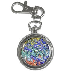 Vincent Van Gogh Irises Key Chain Watch by MasterpiecesOfArt