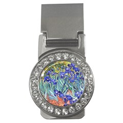 Vincent Van Gogh Irises Money Clip (cz) by MasterpiecesOfArt