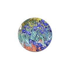 Vincent Van Gogh Irises Golf Ball Marker by MasterpiecesOfArt