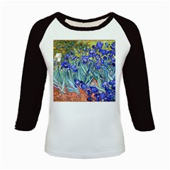 Vincent Van Gogh Irises Kids Long Cap Sleeve T Shirt