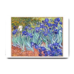 Vincent Van Gogh Irises Small Door Mat by MasterpiecesOfArt