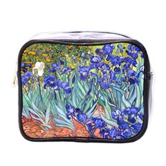 Vincent Van Gogh Irises Mini Travel Toiletry Bag (one Side) by MasterpiecesOfArt