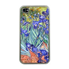 Vincent Van Gogh Irises Apple Iphone 4 Case (clear) by MasterpiecesOfArt