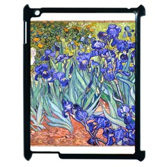 Vincent Van Gogh Irises Apple Ipad 2 Case (black) by MasterpiecesOfArt