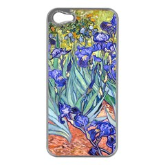Vincent Van Gogh Irises Apple Iphone 5 Case (silver) by MasterpiecesOfArt