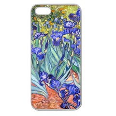 Vincent Van Gogh Irises Apple Seamless Iphone 5 Case (clear) by MasterpiecesOfArt