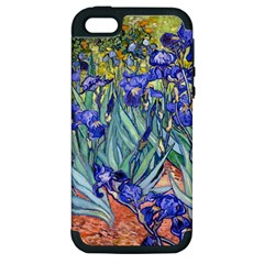 Vincent Van Gogh Irises Apple Iphone 5 Hardshell Case (pc+silicone) by MasterpiecesOfArt