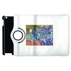 Vincent Van Gogh Irises Apple Ipad 2 Flip 360 Case by MasterpiecesOfArt