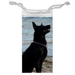 Black German Shepherd Jewelry Bag