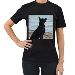 Black German Shepherd Women s T Shirt (black) by StuffOrSomething