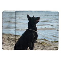 Black German Shepherd Samsung Galaxy Tab 10 1  P7500 Flip Case