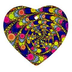 Wild Bubbles 1966 Heart Ornament
