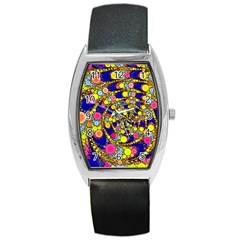 Wild Bubbles 1966 Tonneau Leather Watch by ImpressiveMoments