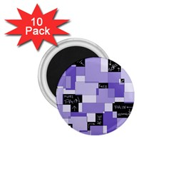 Purple Pain Modular 1.75  Button Magnet (10 pack) by FunWithFibro