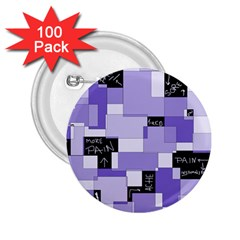 Purple Pain Modular 2 25  Button (100 Pack) by FunWithFibro