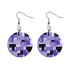 Purple Pain Modular Mini Button Earrings