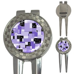 Purple Pain Modular Golf Pitchfork & Ball Marker by FunWithFibro