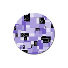 Purple Pain Modular Magnet 3  (round) by FunWithFibro