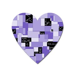 Purple Pain Modular Magnet (heart) by FunWithFibro