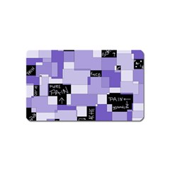 Purple Pain Modular Magnet (name Card) by FunWithFibro