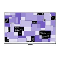 Purple Pain Modular Business Card Holder by FunWithFibro