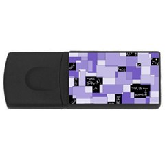 Purple Pain Modular 4gb Usb Flash Drive (rectangle) by FunWithFibro