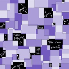 Purple Pain Modular Canvas 12  X 12  (unframed) by FunWithFibro