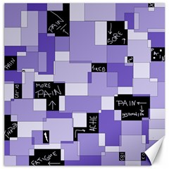 Purple Pain Modular Canvas 16  X 16  (unframed) by FunWithFibro