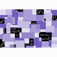 Purple Pain Modular Canvas 20  X 30  (unframed) by FunWithFibro