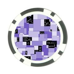 Purple Pain Modular Poker Chip by FunWithFibro
