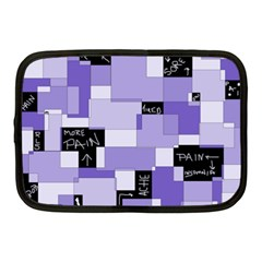 Purple Pain Modular Netbook Sleeve (medium) by FunWithFibro