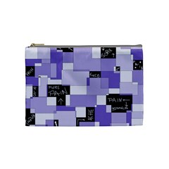 Purple Pain Modular Cosmetic Bag (medium) by FunWithFibro
