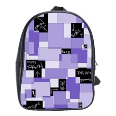 Purple Pain Modular School Bag (large) by FunWithFibro
