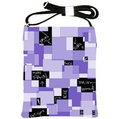 Purple Pain Modular Shoulder Sling Bag by FunWithFibro