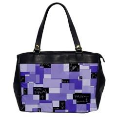 Purple Pain Modular Oversize Office Handbag (one Side) by FunWithFibro