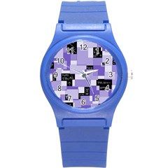 Purple Pain Modular Plastic Sport Watch (small) by FunWithFibro
