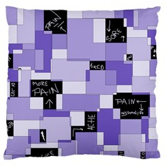 Purple Pain Modular Large Cushion Case (two Sided)  by FunWithFibro